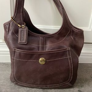 Coach Ergo Leather Tote Chocolate Brown